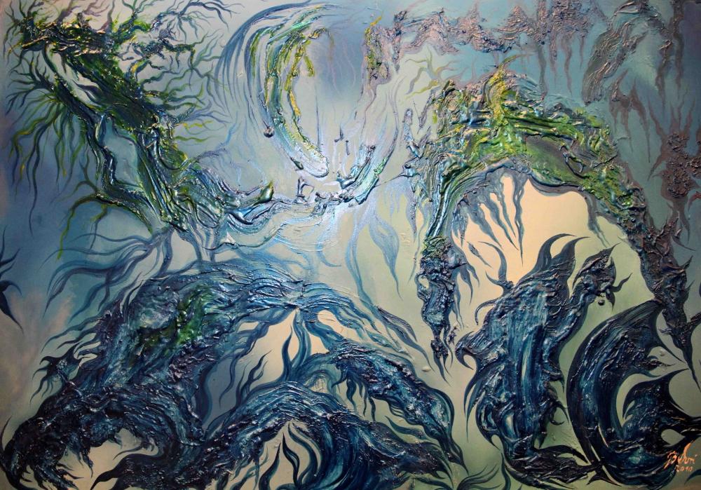 Feuer, Wasser, Luft und Erde - Ausstellung Thomas Behrens (BEHRI) im TU TECH Foyer Hamburg-Harburg (4/5)