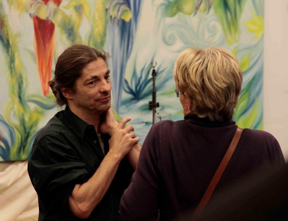 Feuer, Wasser, Luft und Erde - Ausstellung Thomas Behrens (BEHRI) im TU TECH Foyer Hamburg-Harburg (1/5)