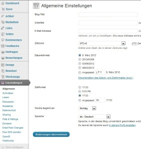wordpress blog einrichten 6