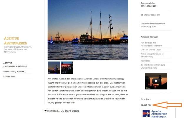 18.000 Blicke auf den Blog der Agentur Abendfarben