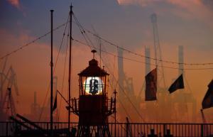 Abendfarben_Leuchtturm by Rexer Final Art