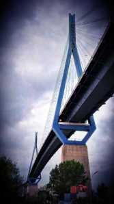 Köhlbrandbrücke Hafen hamburg by abendfarben