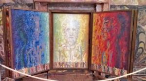 altar kunststätte bossard by abendfarben
