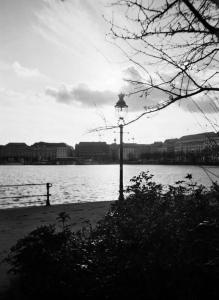 susann jakob analogfotografie analogphotography jungfernstieg binnenalster hamburg monochrom streetview