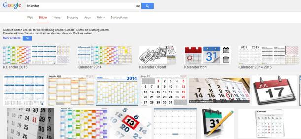 google kalender bild suche