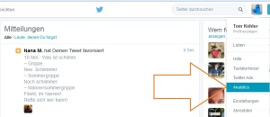twitter analytics follower tweets interaktion
