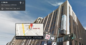 twitter hq headquater san francisco by google maps